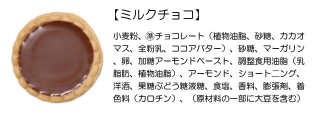 プチガトー(ミルクチョコ)原材料